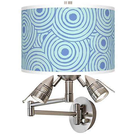 Circle Daze Giclee Swing Arm Wall Light