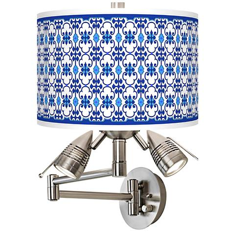 Indigo Path Giclee Swing Arm Wall Lamp