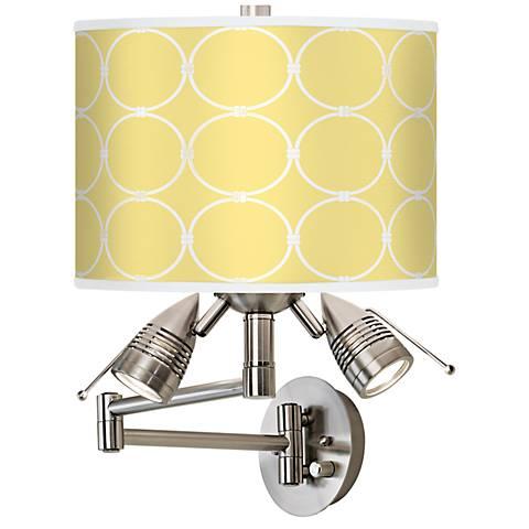 Lemon Interlace Giclee Swing Arm Wall Light
