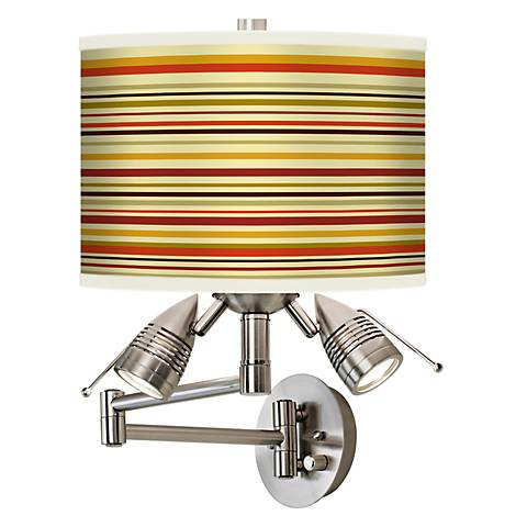 Stacy Garcia Lemongrass Stripe Giclee Swing Arm Wall Light