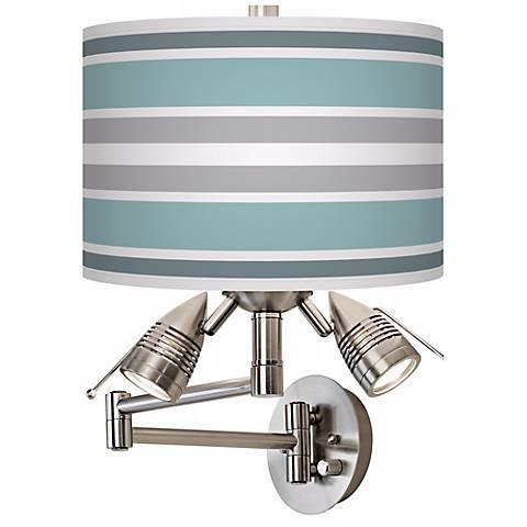 Multi Color Stripes Giclee Side Light Swing Arm Wall Light