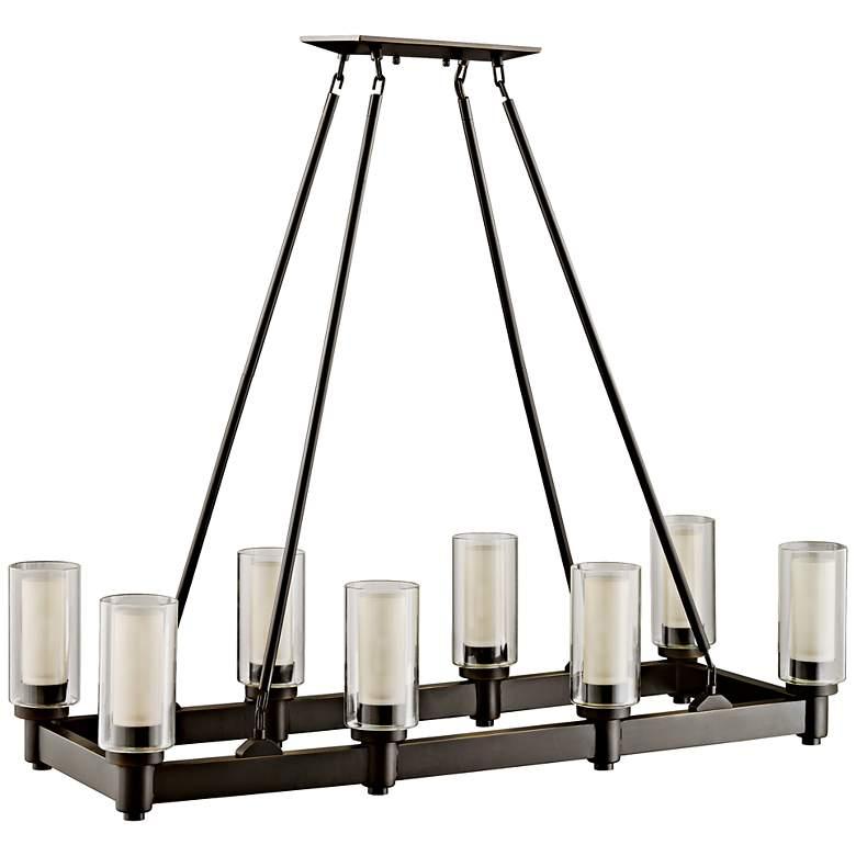 "Circolo 36 1/2""W Olde Bronze Kitchen Island Light Chandelier"