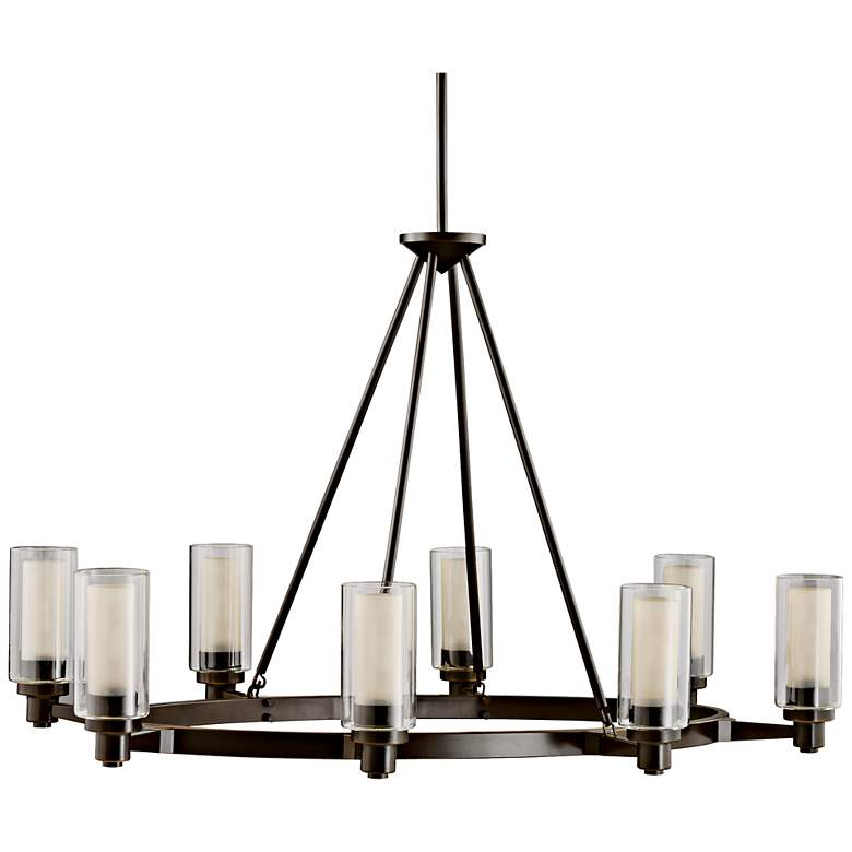 """Circolo Collection Olde Bronze 35 1/2"""" Wide Oval Chandelier"""