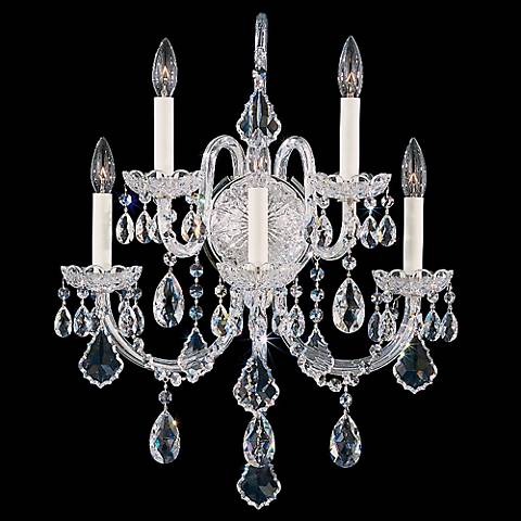 "Schonbek Olde World 23"" High Swarovski Crystal Wall Sconce"