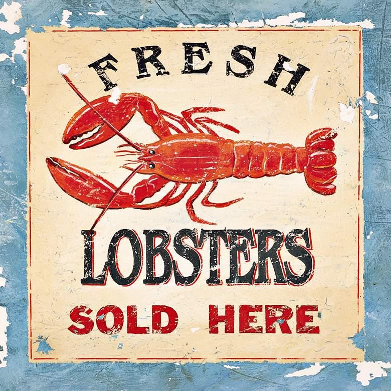Fresh Lobsters 12X12 Outdoor Wall Art