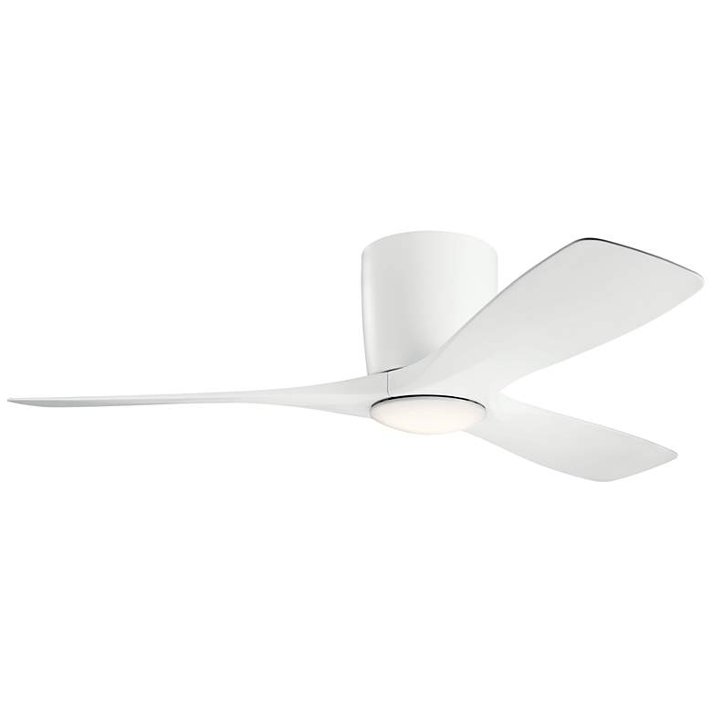 """48"""" Kichler Volos Matte White Hugger LED Ceiling Fan"""