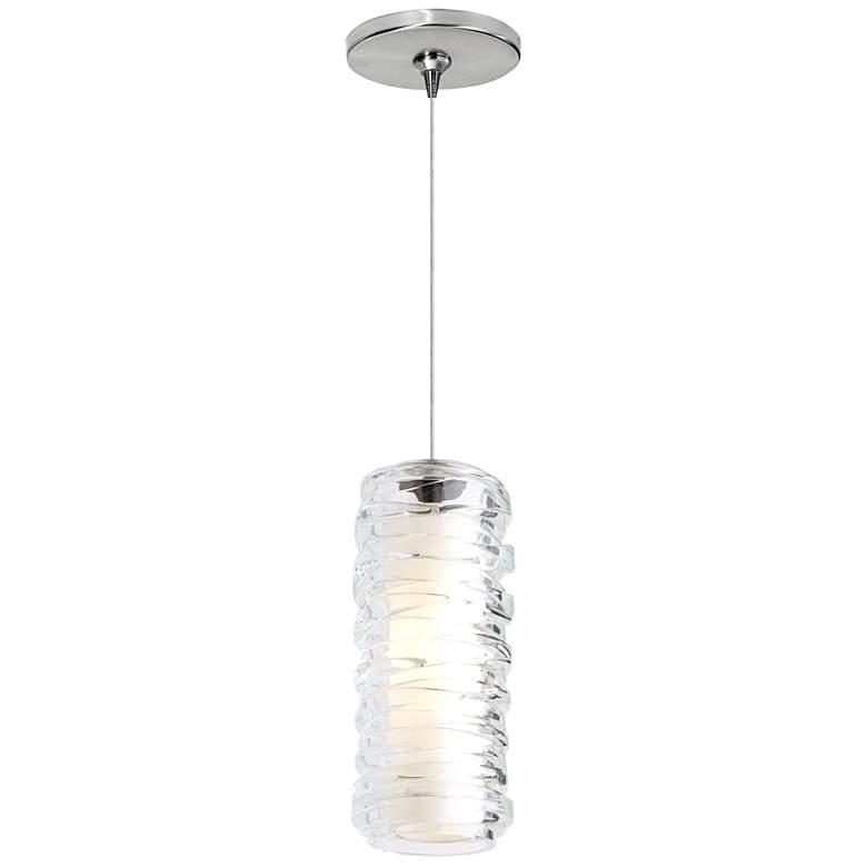 "Leigh 3 1/4""W Clear Glass LED Freejack Mini Pendant Light"