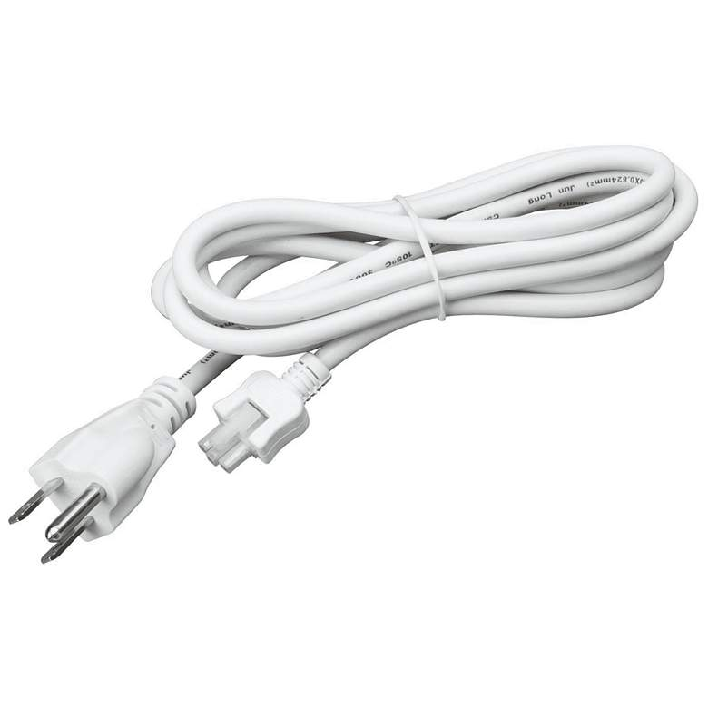 Complete White 2' Long Under Cabinet Power Cord