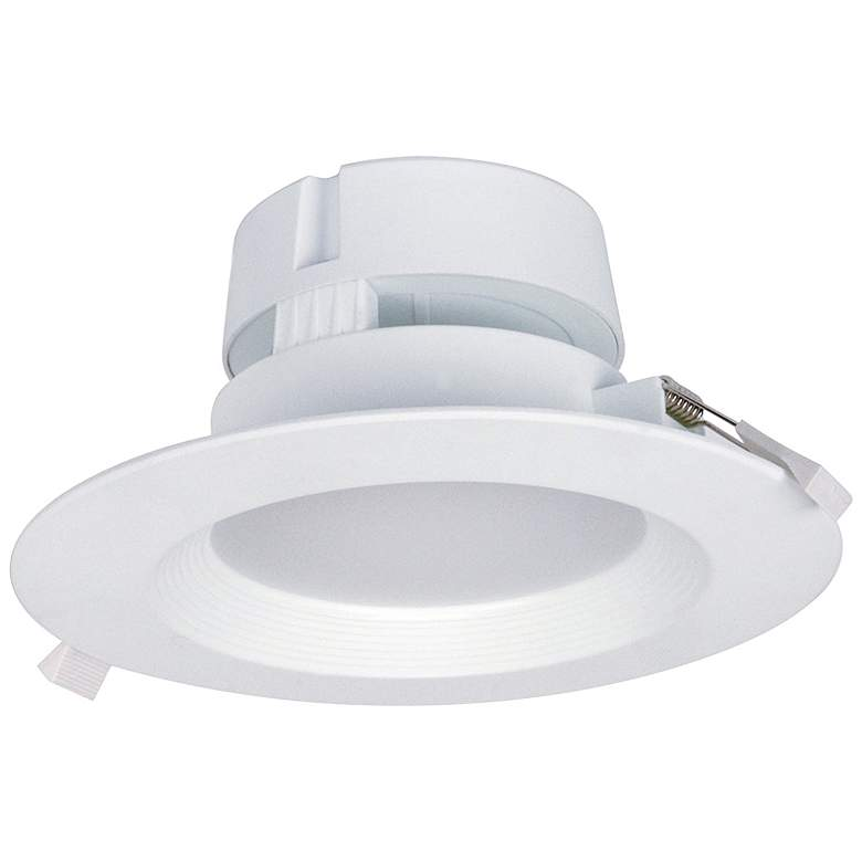 "6"" Round White LED Snap Trim J-Box Canless LED Downlight"
