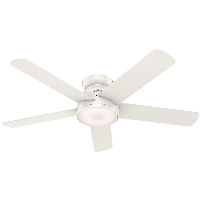 """54"""" Hunter Romulus Fresh White LED Hugger Ceiling Fan"""