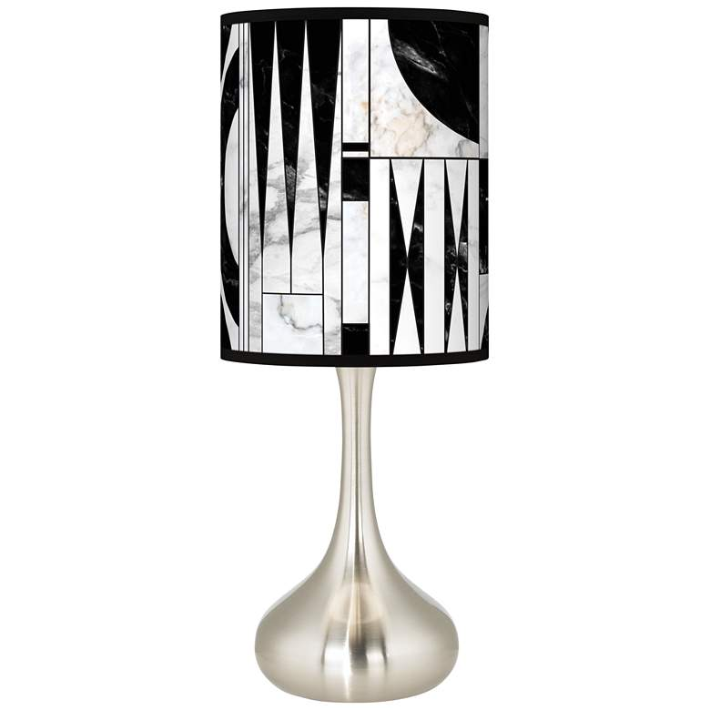 Noir Marble Giclee Droplet Table Lamp