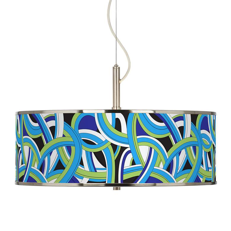 "Deco Curves Giclee Glow 20"" Wide Pendant Light"