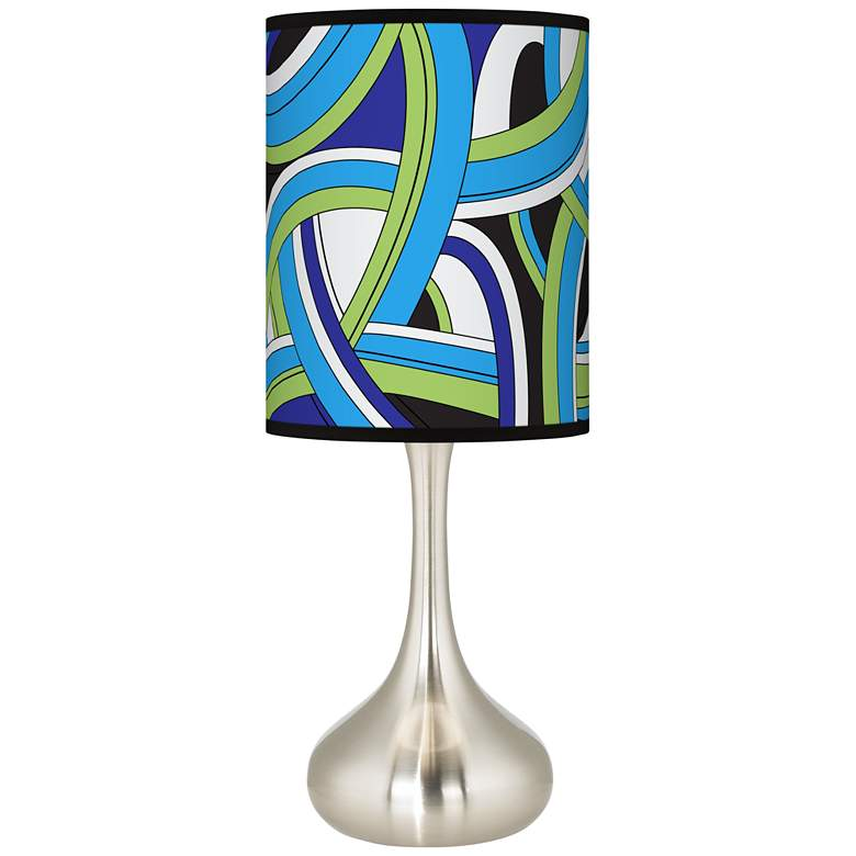 Deco Curves Giclee Droplet Table Lamp