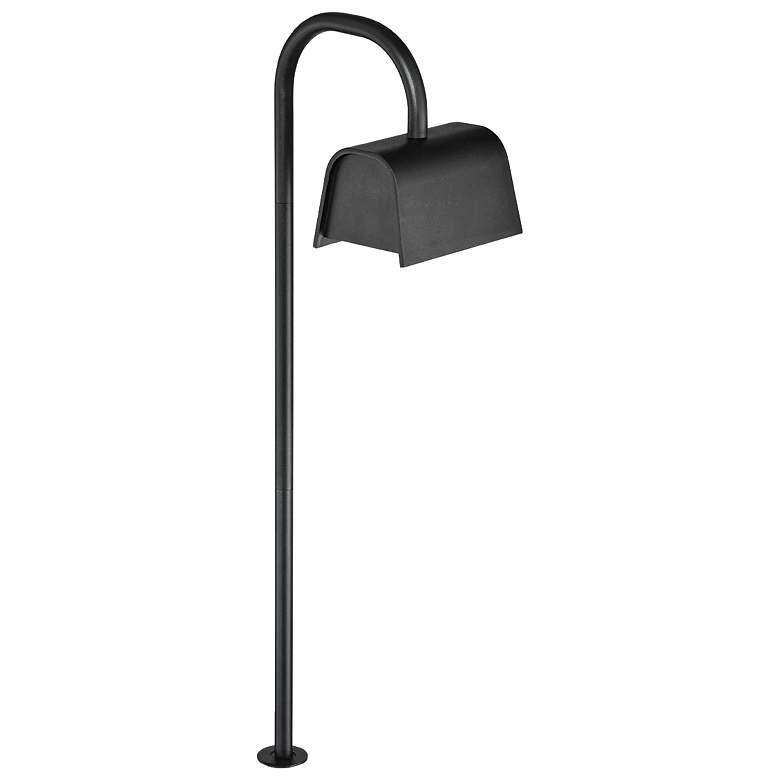 """Eurofase 23"""" High Black Curved LED Landscape Path Light"""