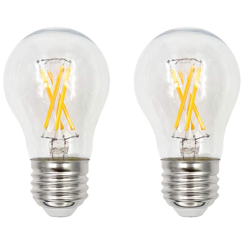 60W Equivalent Clear 5.5W LED Dimmable E26 A15 Bulb Set of 2