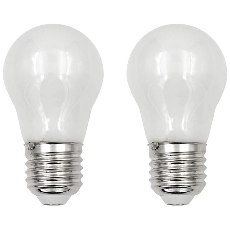 60W Equivalent Frosted 5.5W LED Dimmable E26 A15 Set of 2