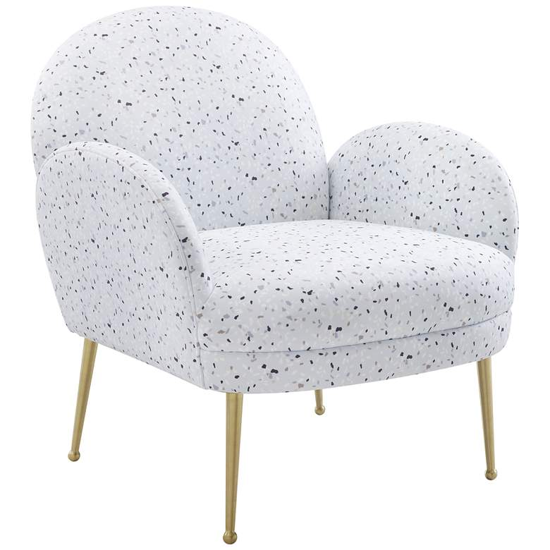 Gwen Terrazzo Velvet Accent Chair