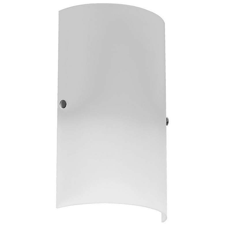 """Ancelotti 12"""" High Frosted White Glass Wall Sconce"""