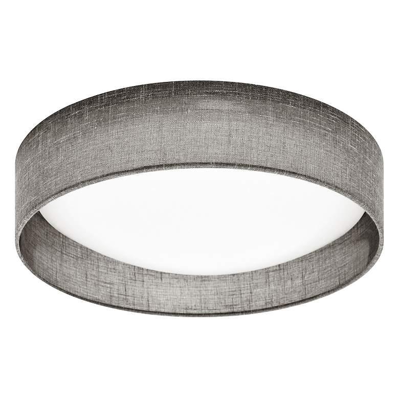 """Gerritt 11"""" Wide Gray Round LED Ceiling Light"""