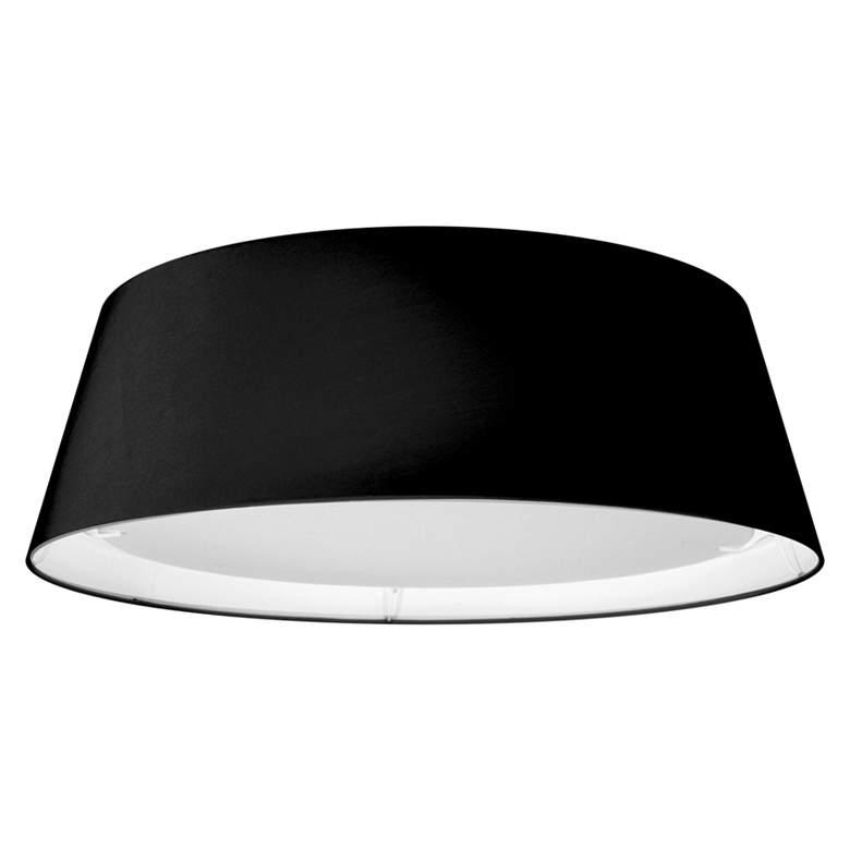 "Didoria 17"" Wide Black Drum LED Ceiling Light"