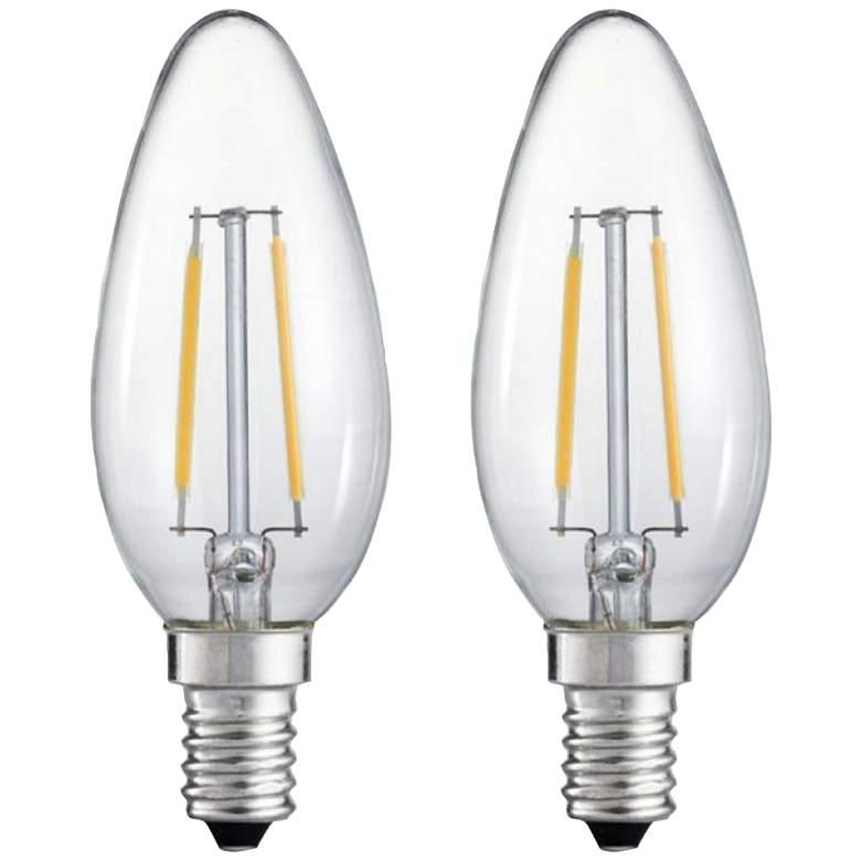 25W Equivalent Clear 2W LED Night Filament Light Bulb 2-Pack
