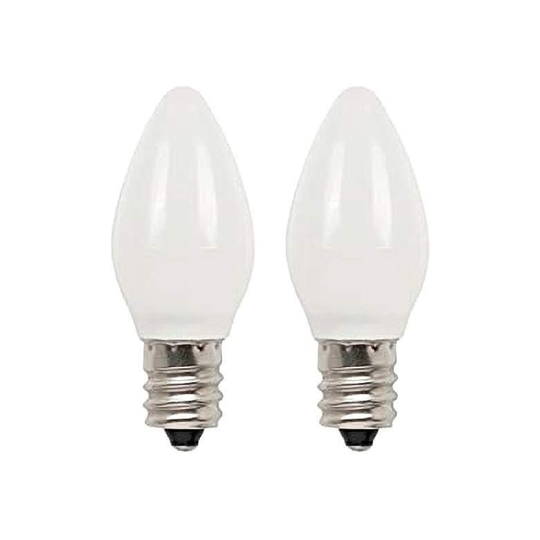 25W Equivalent Milky 2W LED Night Light Bulbs 2-Pack