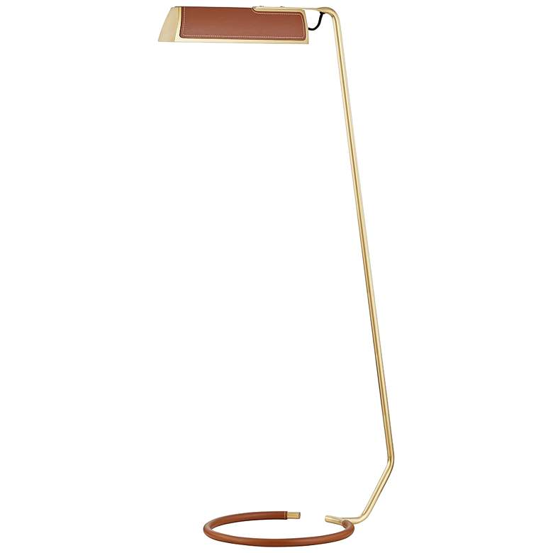 Holtsville Aged Brass and Saddle Leather LED Task