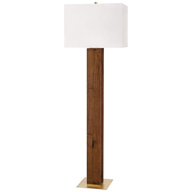 Hudson Valley Waltham Light Solid Walnut Wood Floor Lamp
