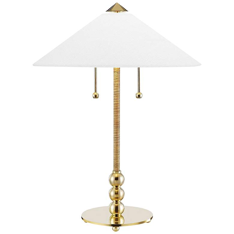Hudson Valley Flare Aged Brass Stem Table Lamp