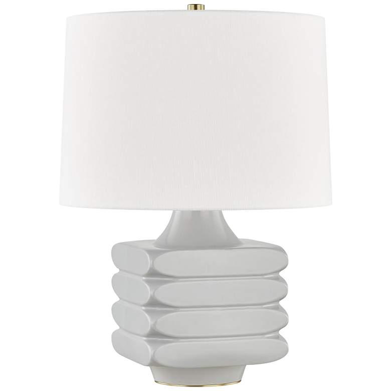 Hudson Valley Sag Harbor Gray Ceramic Accent Table Lamp