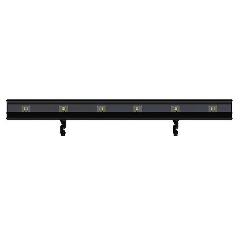 "Andorra 48""W Black Texture 6-Light LED Landscape Flood"