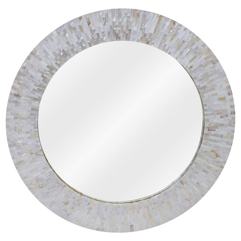 """LA Modern Chantal Mother of Pearl 36"""" Round"""