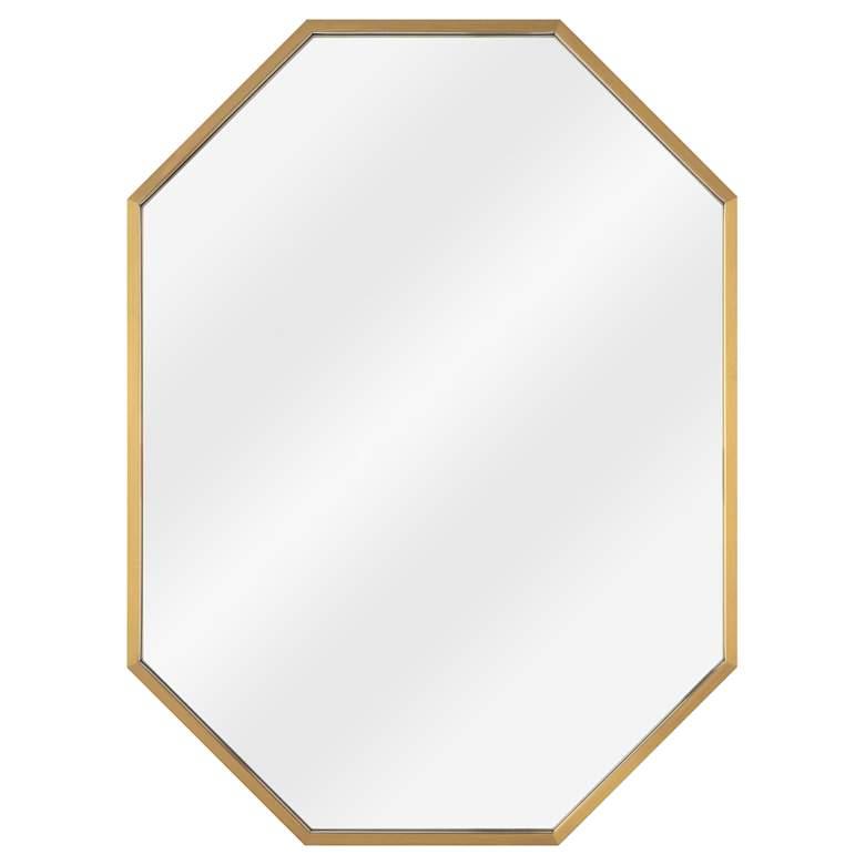 """Classics Hale Natural Brass 24"""" x 32"""" Hexagon"""