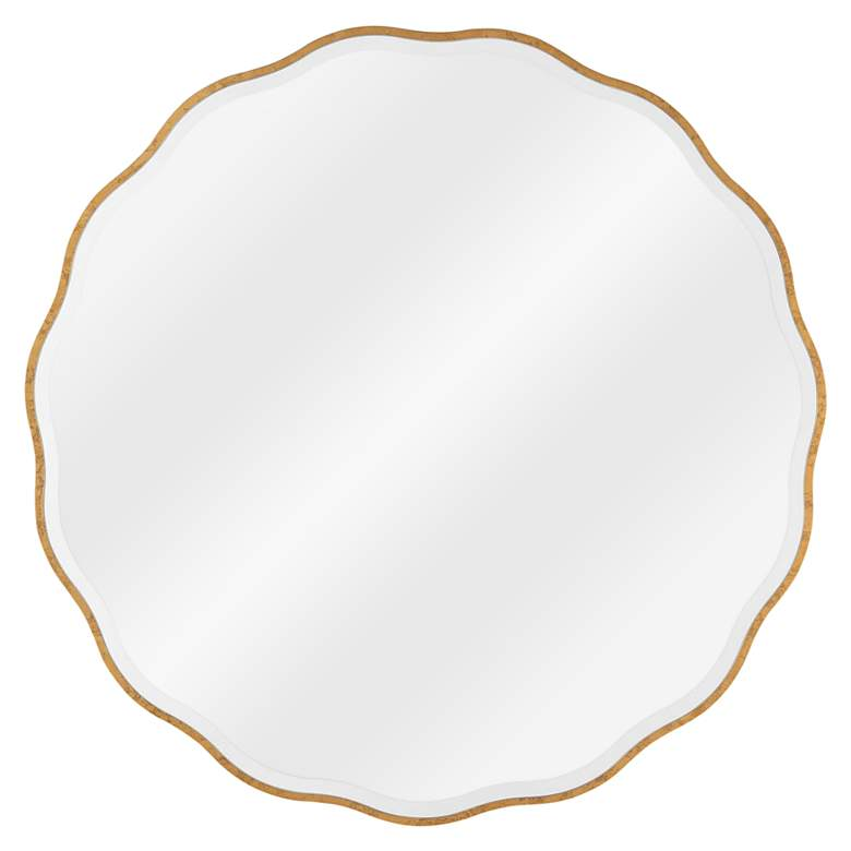 """Modern Glamour Candice Gold Leaf 32"""" Round Wall"""