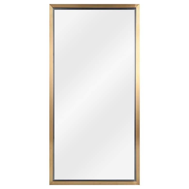 """Classics Natural Brass 24"""" x 48"""" Wall Mirror"""