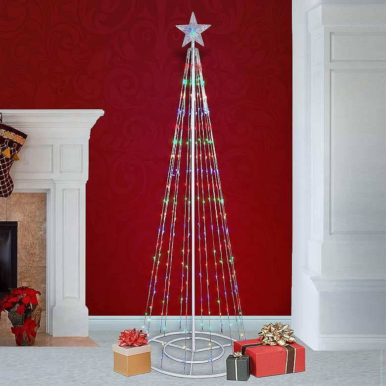 """86""""H LED Artificial Christmas Tree with Glowing Star"""
