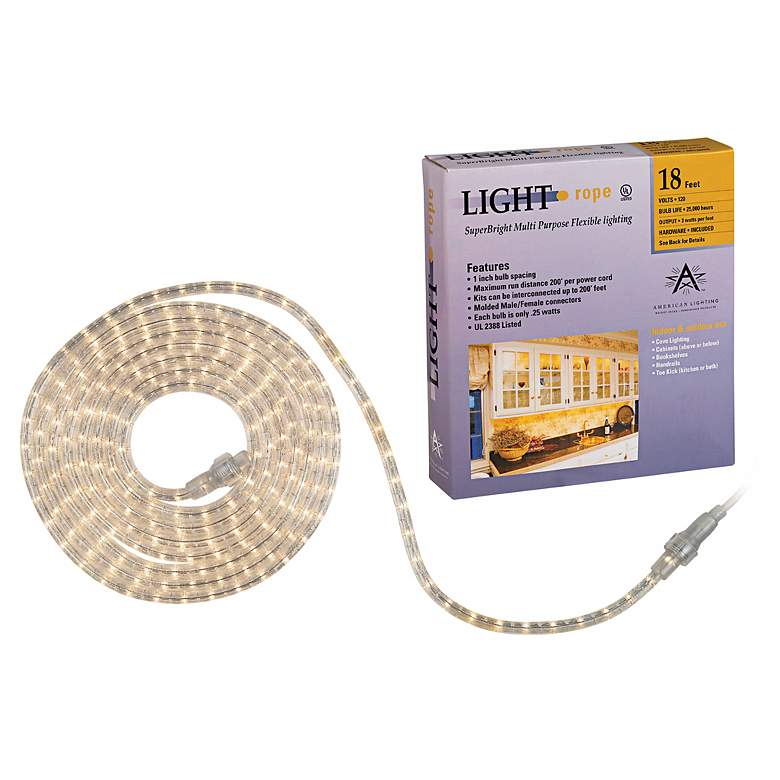 SuperBright 18 Foot Long Rope Light