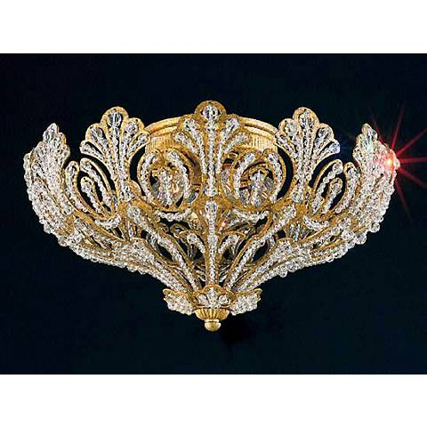 "Schonbek Rivendell 14"" Wide Swarovski Ceiling Light"