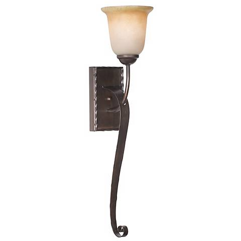 """Aspen Collection 25"""" High Scroll Arm Wall Sconce"""