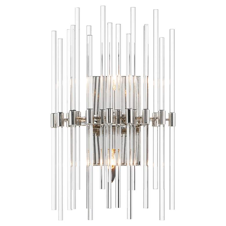 """Maxim Divine 19 1/2""""H Polished Nickel 2-Light Wall Sconce"""