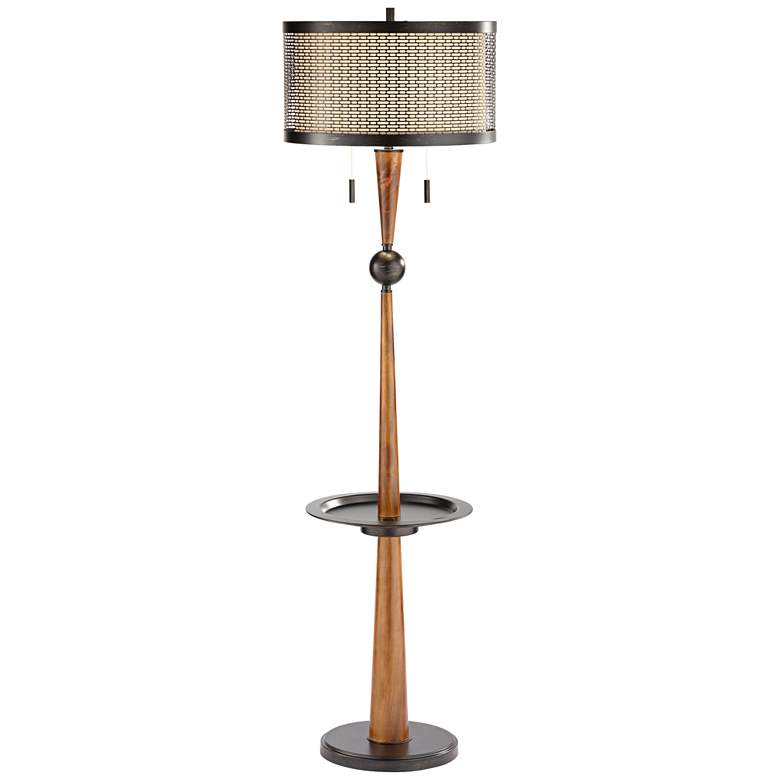 Hunter Floor Lamp with Tray Table and USB Port