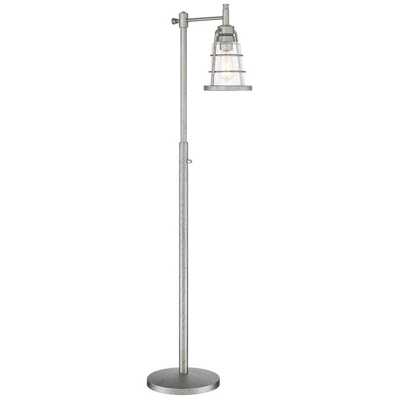 Averill Park Industrial Downbridge Galvanized Floor Lamp