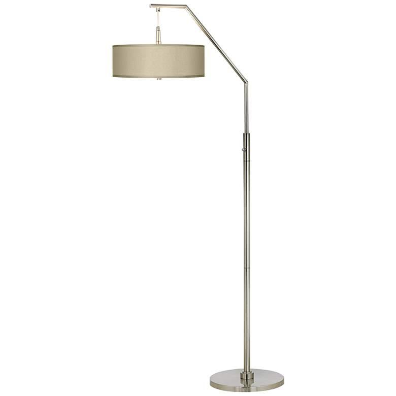 Sesame Faux Silk Arc Floor Lamp