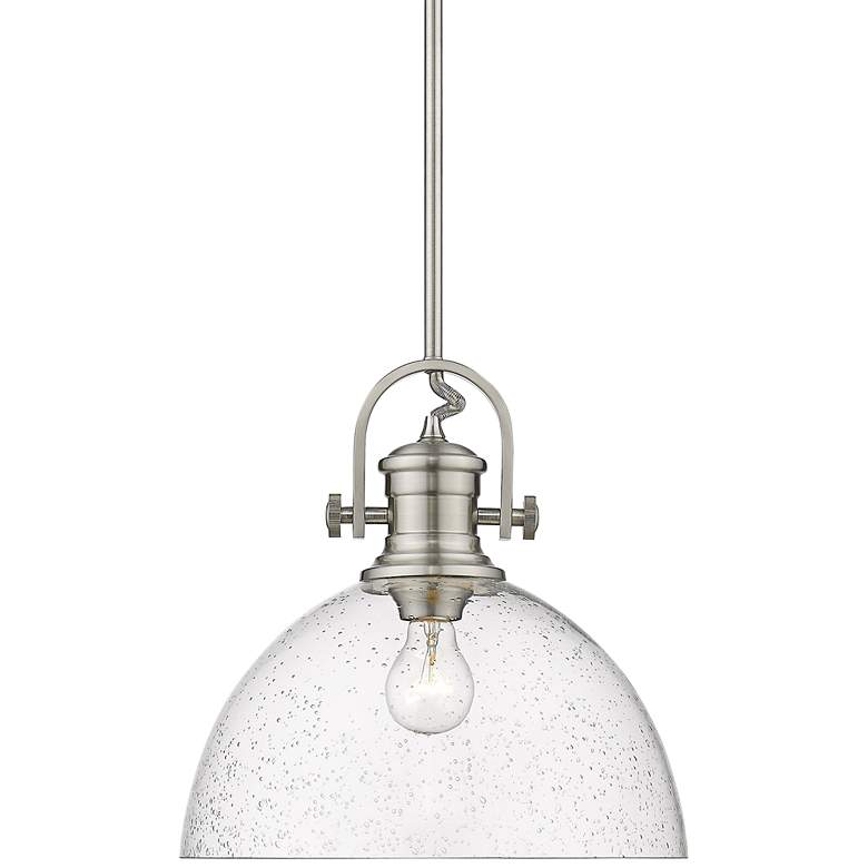 "Hines 13 1/2"" Wide Pewter Pendant Light"