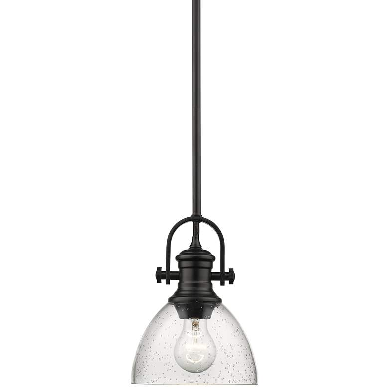 "Hines 7"" Wide Matte Black Mini Pendant Light"
