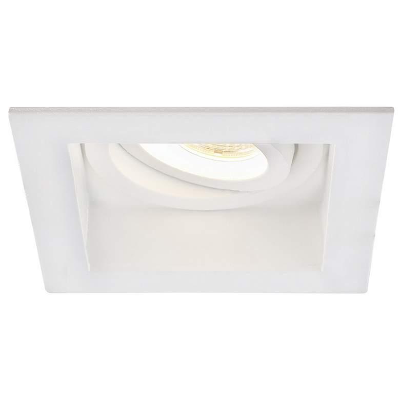 """Amigo 3 1/4"""" White 15W LED Square Gimbal"""