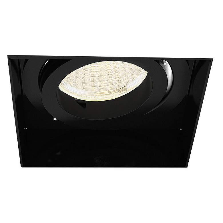 "Amigo 3"" Black 15 Watt LED Square Trimless Gimbal Downlight"