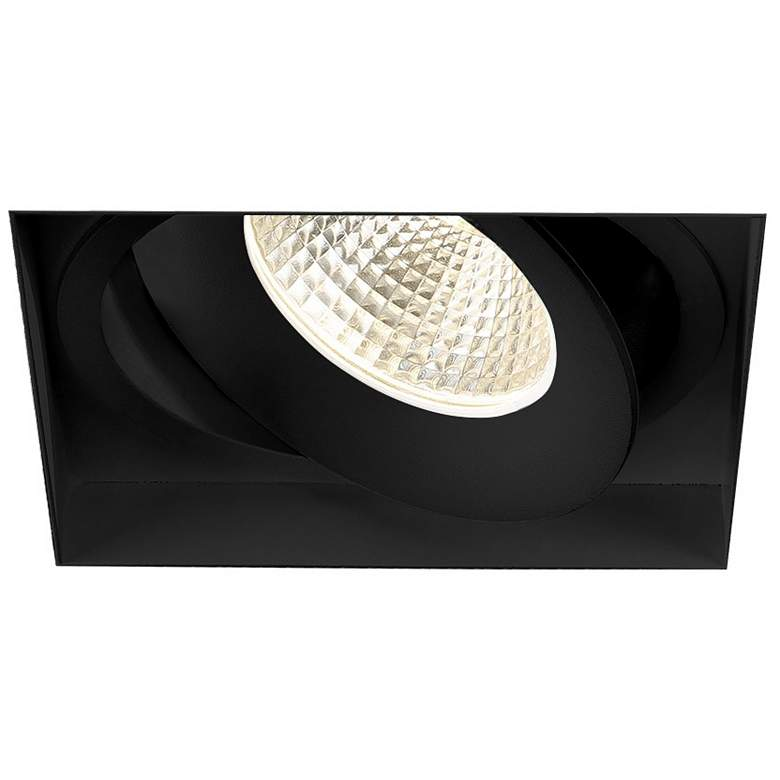 "Amigo 6 1/8"" Black 26W LED Square Trimless Gimbal Downlight"