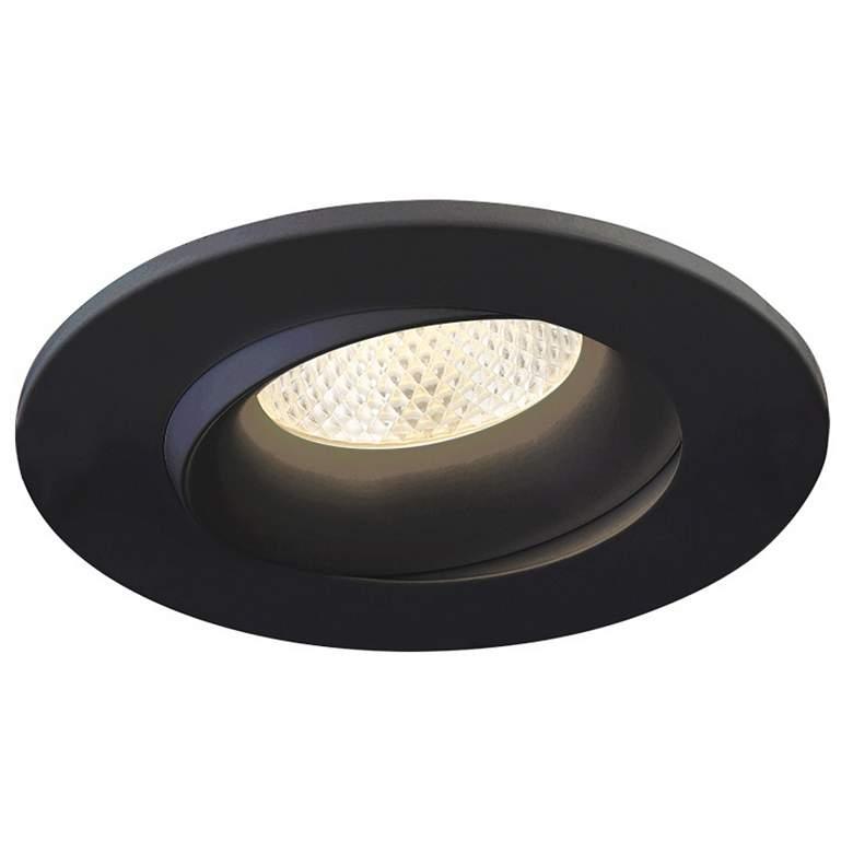 "Eurofase 3 1/2"" Black 12 Watt LED Round Gimbal Downlight"