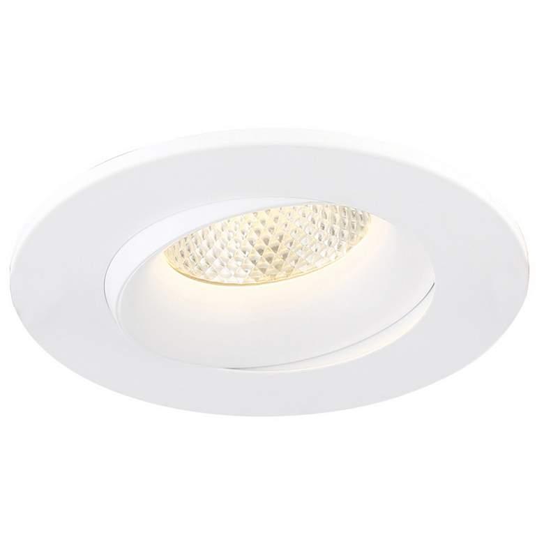 "Eurofase 3 1/2"" White 12 Watt LED Round Gimbal Downlight"